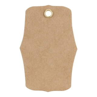 Hang tag 20, Label, 65 x 45 mm, kraft cardboard, eyelet