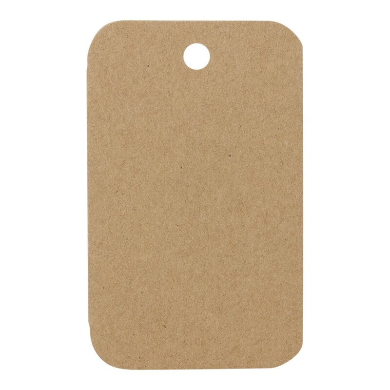 25 x Hang tag 27.02, 48 x 78 mm, labels kraft cardboard