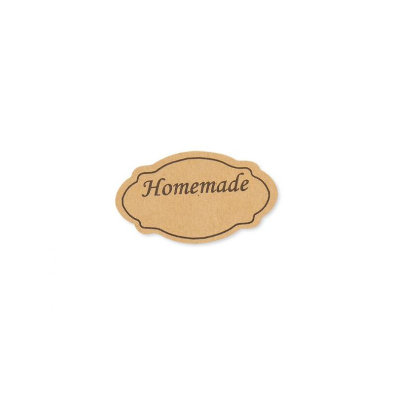 Sticker »Homemade«, Kraftpapier, Vintage-Look, Aufkleber