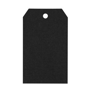 50 black cardboard gift tags, Hang tag 29.02b