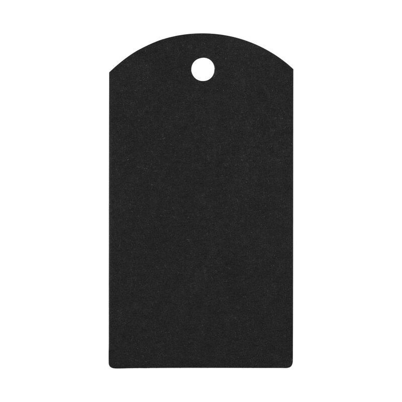 50 black cardboard gift tags, Hang tag 04.01b