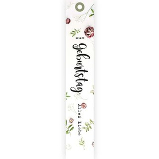 12 »Geburtstag« gift tags, 170 x 30 mm, hang tag to flap