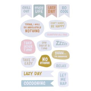 68 Sticker NO STRESS, 4 sheets, different shapes and...