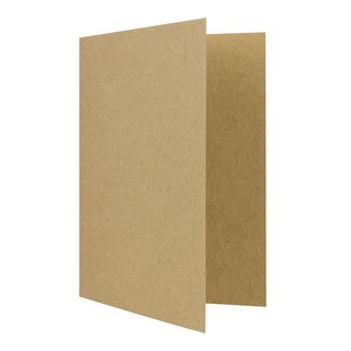 Folding card A6, kraft carton 244 g/m², unprinted, brown...