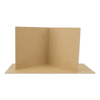 Folding card 120 x 120 mm, 225 g/m² kraft cardboard,...
