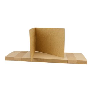 25 Folding cards A6 landscape, kraft cardboard 283 g/m²,...