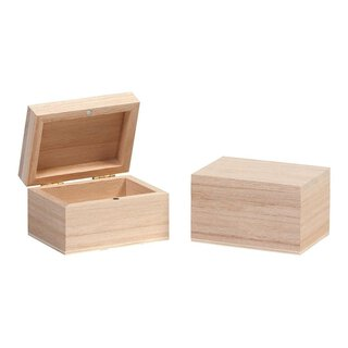 Wooden box with lid, 75 x 55 x 45 mm, birch, honed