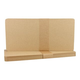25 x card DL, rounded, Kraft cardboard 283 g/m², brown,...