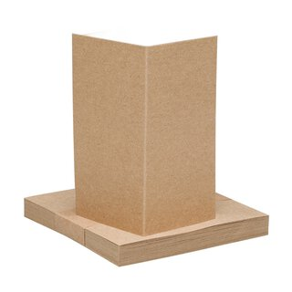 25 x place card 100 x 50 mm, kraft cardboard, brown