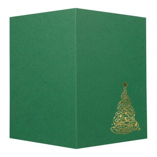 Green fold card with Golden Fir, A6, hot foil embossing
