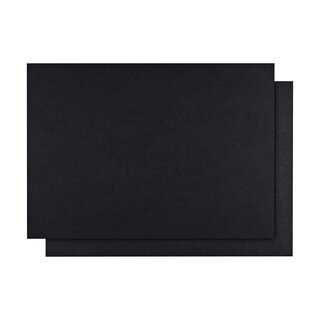 A6 cards black, 350 g/m², Recycling cardboard, unprinted