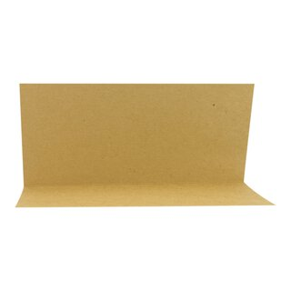Folding card DL Kraft cardboard 225, 244 or 283 g/m², 100...