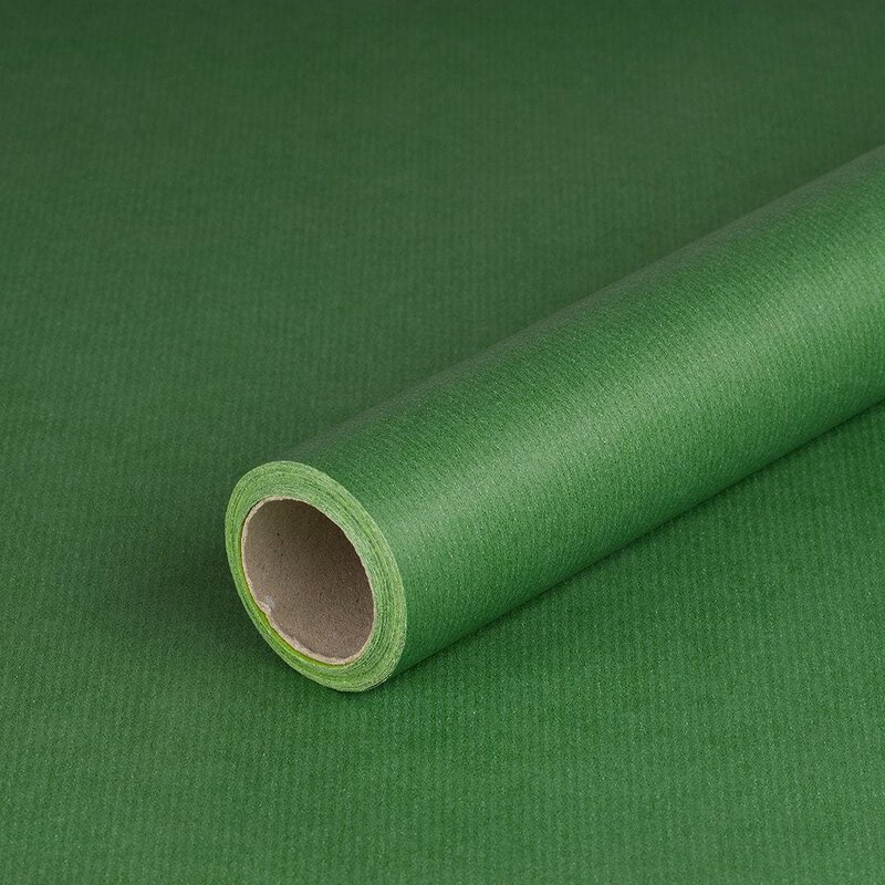 Wrapping paper 2 colors green-lime, 0,8 x 10 m, kraft paper, roll