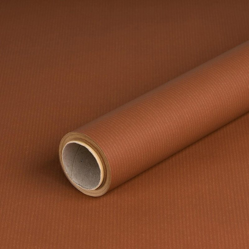 Wrapping paper brown 0,7 x 10 m, kraft paper, ribbed, roll