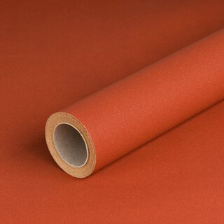 Gift wrapping paper rusty red 0,7 x 10 m, Recycled paper