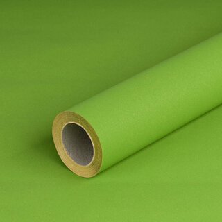 Gift wrapping paper solid green, recycled paper, smooth -...