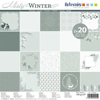 Scrapbooking paper MISTY WINTER 30,5 x 30,5 cm