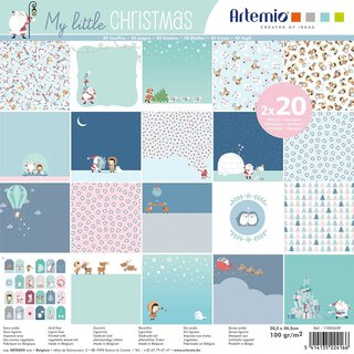 Scrapbooking paper  MY LITTLE CHRISTMAS  40 sheets, 30,5...