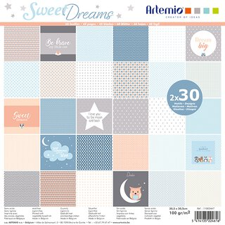Scrapbooking Papier SWEET DREAMS, 30,5 x 30,5 cm