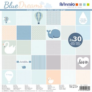 Scrapbooking Papier BLUE DREAMS, 30,5 x 30,5 cm