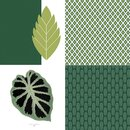 Scrapbooking paper DEEP GREEN 30,5 x 30,5 cm, 40 pcs, 2 x 20 motives