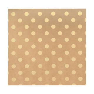 Bazzill Classic Power 30 x 30 cm with gold embossing Dots
