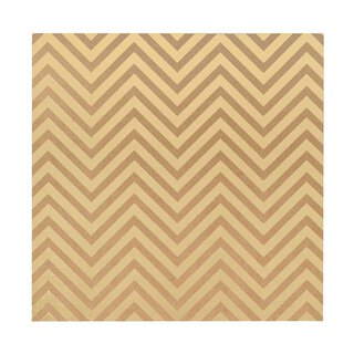 Bazzill Classic Power 30 x 30 cm with gold embossing Chevron