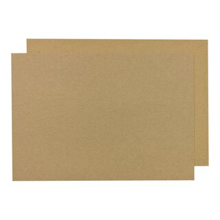 A5 Kraft cardboard 244 g/m², 14,8 x 21 cm, brown, crafting