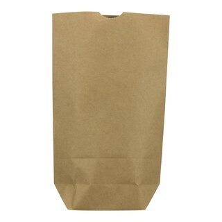 Paper bag, 1.0 l, 17 x 26 x 6 cm, kraft paper, brown