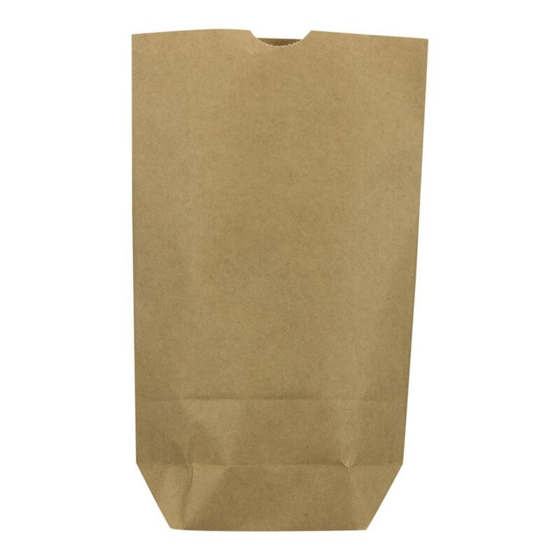 Paper bag, 0.5 l, 14 x 22 x 5,5 cm, kraft paper, brown