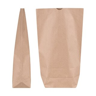 Paper bag, 1.5 l, 19,5 x 29 cm, kraft paper, brown