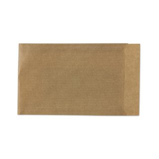 Gift bag, ripped, 70 x 90 mm, kraft paper, brown, with Flap