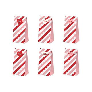 6 Sweet Love treat bags, sticker with 6 diff. motifs,...