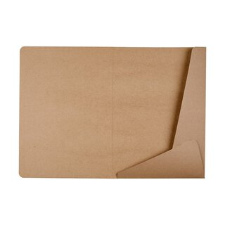 10 x Folder A4, two bevelled flaps, kraft cardboard, brown