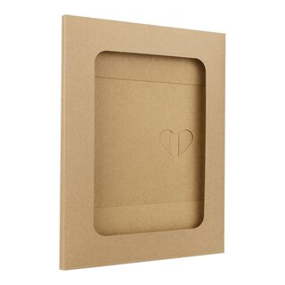 10 x Photo folder with window, kraft cardboard, butterfly...