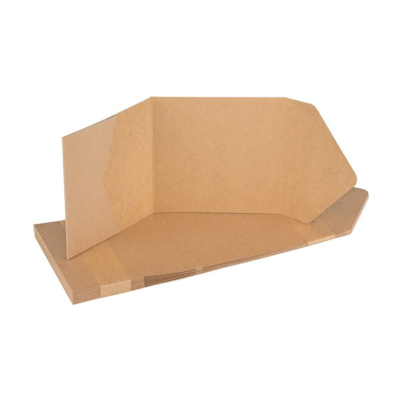 Pocketfold card 125 x 125 mm, with pocket and flap, kraft cardboard, unprinted - 10 pcs/pack