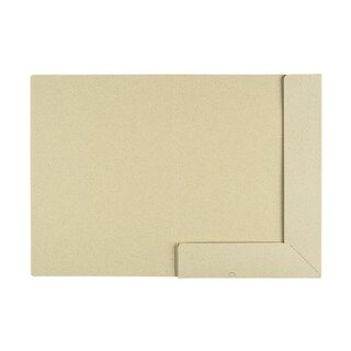 Folder A4, grass paper, two-coloured natural light/white...