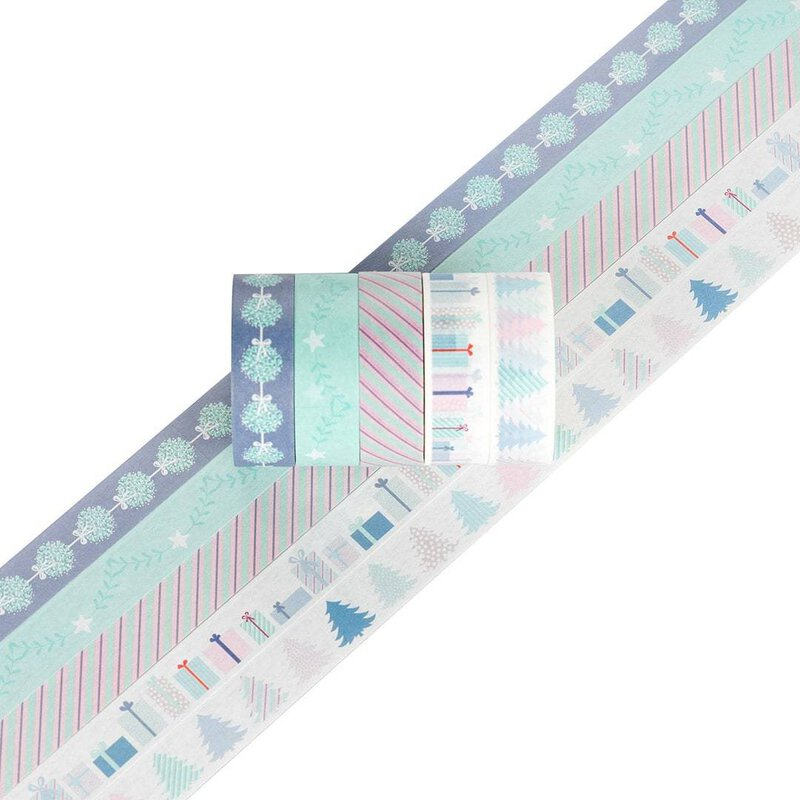Washi tape MY LITTLE CHRISTMAS 15 mm, 5 Rollen á 5 m, Masking tape