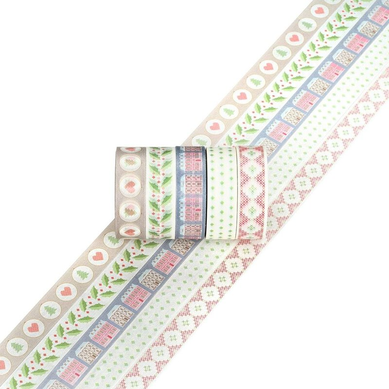 Washi tape HOME SWEET HOME 15 mm, 5 Rollen á 5 m, Masking tape