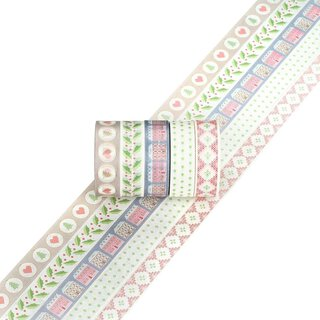 Washi tape HOME SWEET HOME 15 mm, 5 Rollen á 5 m, Masking...