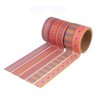 Washi tape ALPACA 15 mm, 5 Rollen á 5 m