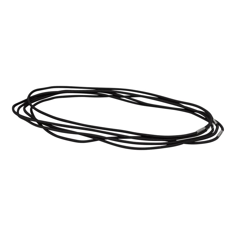 Elastic cord ring, black, for format A4, closed, textile-clad