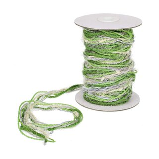 Jute yarn, multicolor, green, natural 15 m