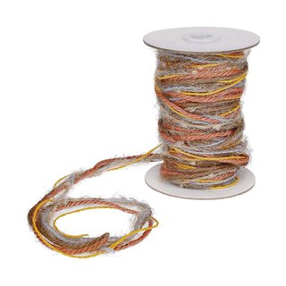 Jute yarn, multicolor, orange, yellow, natural 15 m