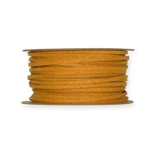 Deco ribbon leather look, Honey, 3 mm, 20 m roll