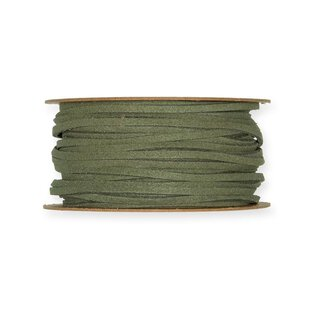 Deco ribbon leather look, Green, 3 mm, 20 m roll