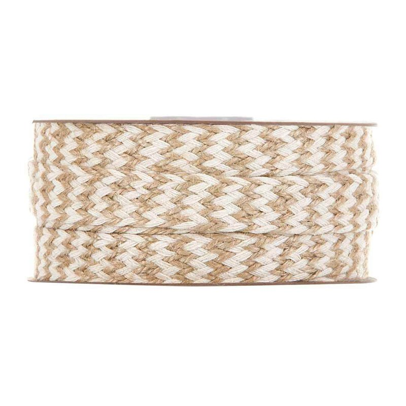 Jute tape Tresse, 2colour, 17mm, 10 meter roll