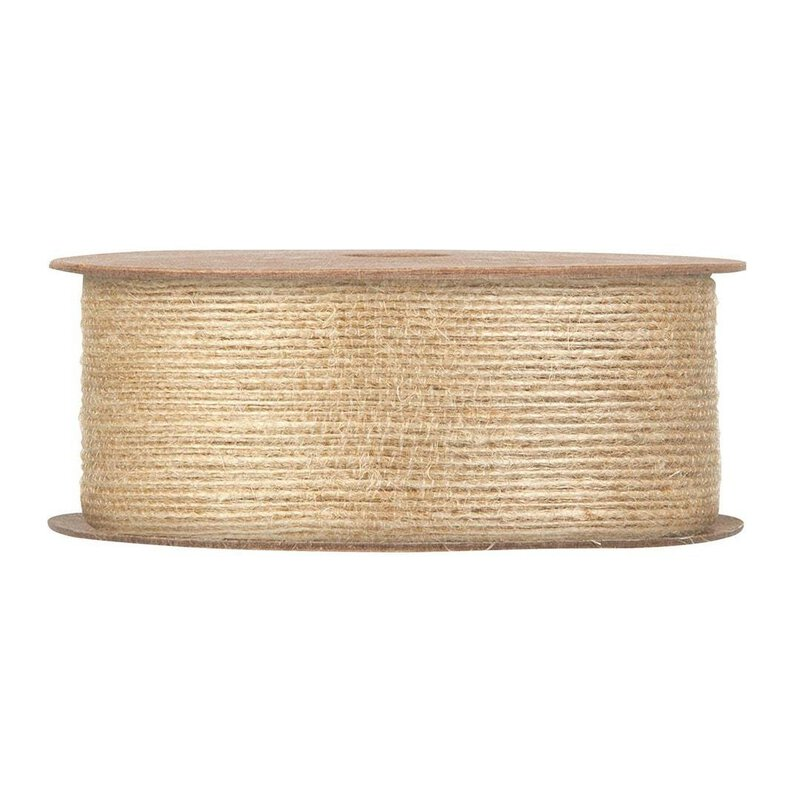 Jute tape, natural 40 mm wide, 12 meter roll
